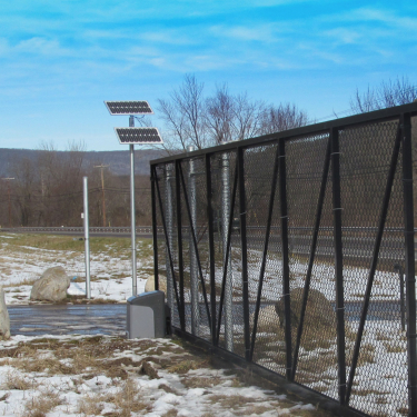 Solar Operated Access Gate