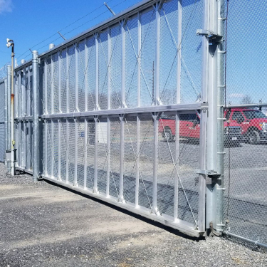 Galvanized Panel Security Gate System